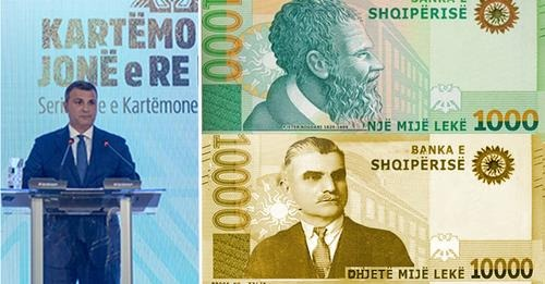 Me Himnin Kombëtar dhe portretin e Asdrenit, prezantohet kartëmonedha 10 mijë lekëshe