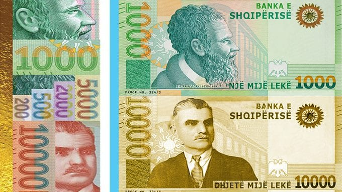 Hidhet në treg kartmonedha 10.000 lekëshe, ngjyrë e artë me portretin e Asdrenit